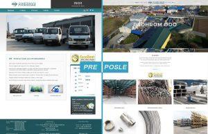 Redizajn sajta, pre i posle - Prohrom Inox