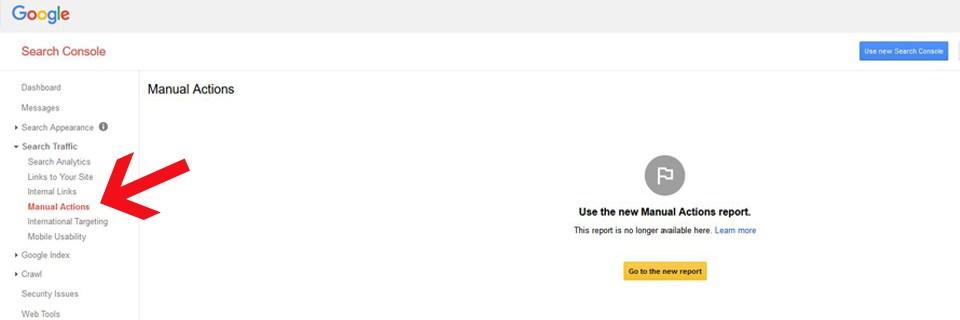 Kako da proverimo da li imamo Google Penal na starom Webmaster Tools